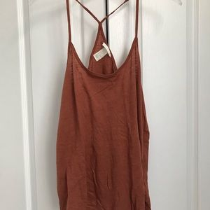 Pink and Brown Basic Tank Tops